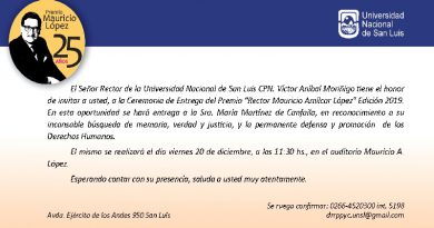 Premio Mauricio A. Lopez 2019